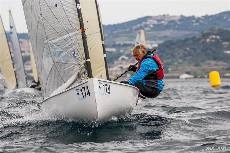 Gerado Seeliger - Finn Masters Worlds - El Balis, Spain - May 2018 - photo © Robert Deaves / Finn Class
