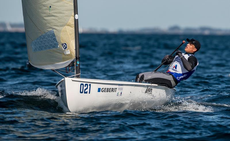 Andy Maloney (NZL) - Finn -Day 1 - Hempel Sailing World Championships, Aarhus, Denmark - photo © Sailing Energy / World Sailing