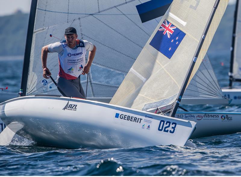Josh Junior (NZL) - Finn - Hempel Sailing World Championships, Aarhus, Denmark, August 2018 - photo © Sailing Energy / World Sailing