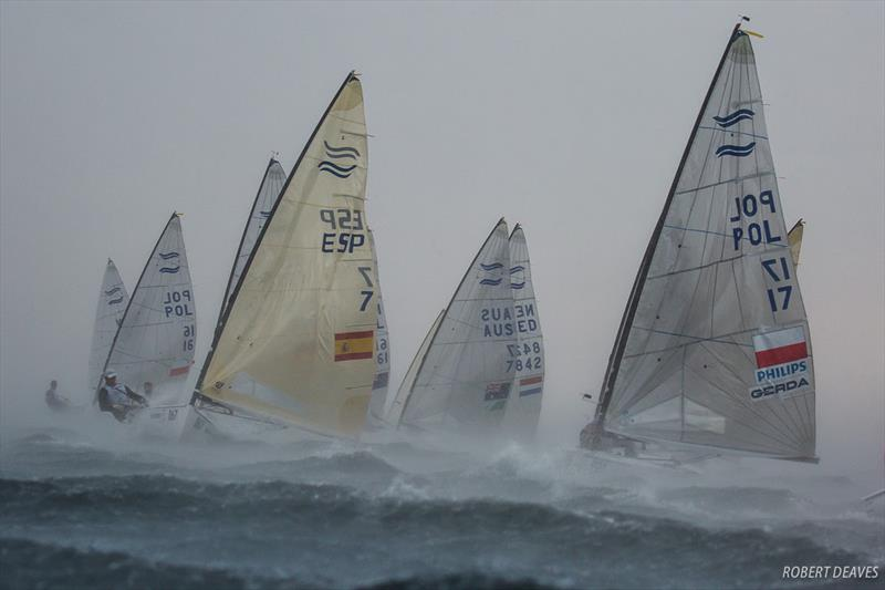 Squall hits fleet in Race 10 - 2018 Hempel Sailing World Championships Aarhus - photo © Robert Deaves