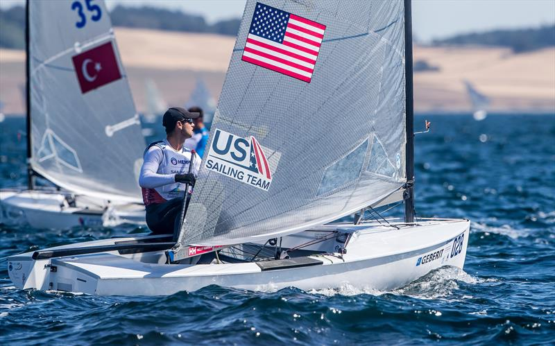 Surprisingly Caleb Paine (USA) 2016 Olympic Bronze medalist didn't make the top eight countries to qualify for  Tokyo2020 - Finn - Hempel Sailing World Championships 2018, Aarhus, August 2018 - photo © Sailing Energy