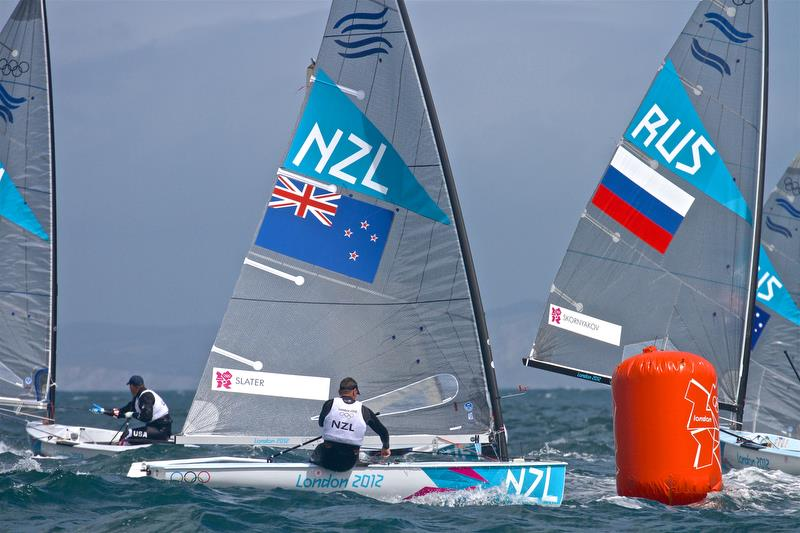 Dan Slater competing in the Finn class at the 2012 Olympics in Weymouth - photo © Richard Gladwell