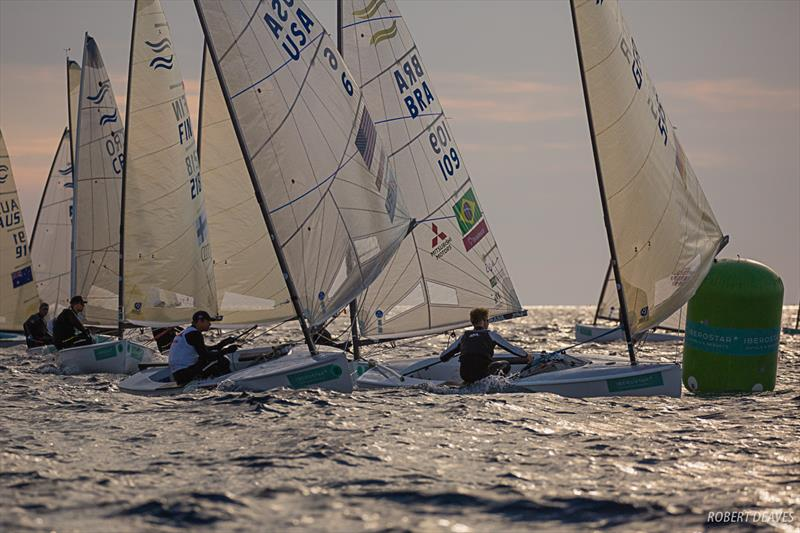 Sunset racing on day 1 of Trofeo Princesa Sofia Iberostar - photo © Robert Deaves / Finn Class