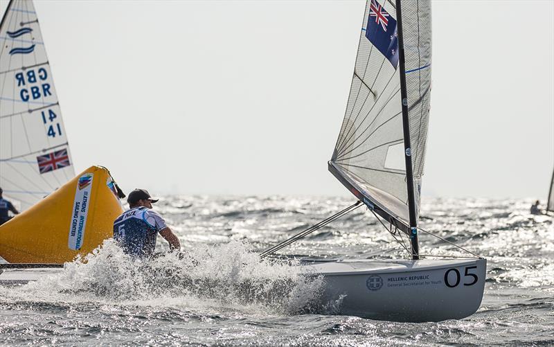 Andy Maloney (NZL) - Day 3 -  Finn European Championship - Athens, Greece - photo © Robert Deaves / Finn Class
