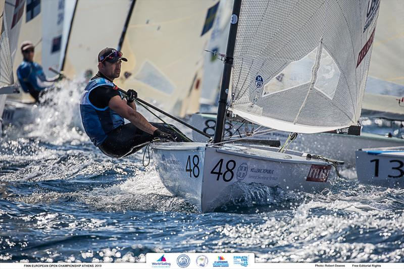 Caleb Paine - 2019 Finn Open European Championship - photo © Robert Deaves / Finn Class