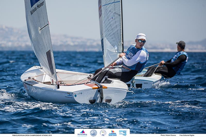 Nicholas Heiner - 2019 Finn Open European Championship - photo © Robert Deaves / Finn Class