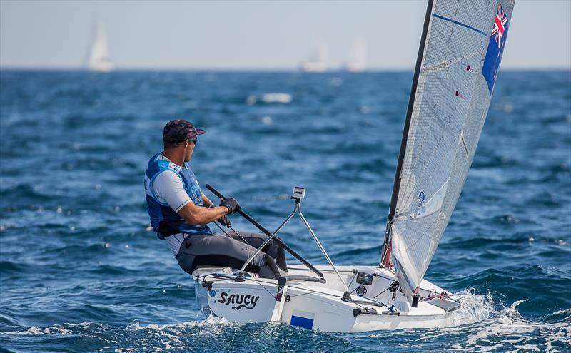 Andy Maloney - NZL - Day 6 - European Finn Championships - Athens International Sailing Centre - May 2019 - photo © Robert Deaves / Finn Class