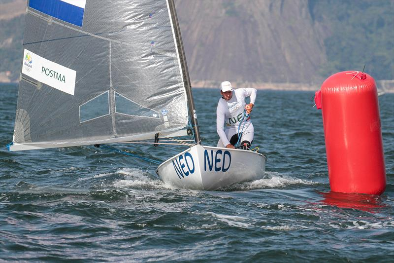 Jan-Pieter Postma (NED) - Medal race, Finn class. The triple Olympian sailed his last Olympics in Rio 2016. - photo © Richard Gladwell