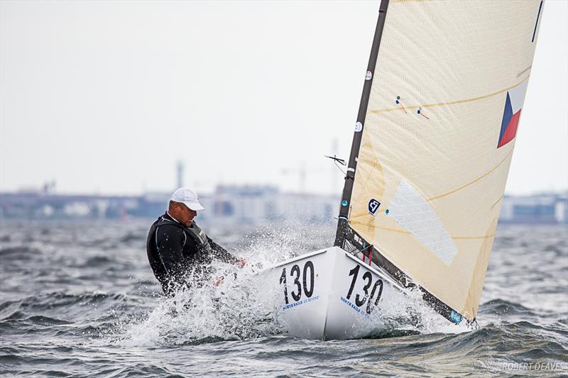 Mike Maier - 2019 Finn World Masters in Skovshoved, Denmark photo copyright Robert Deaves taken at  and featuring the Finn class
