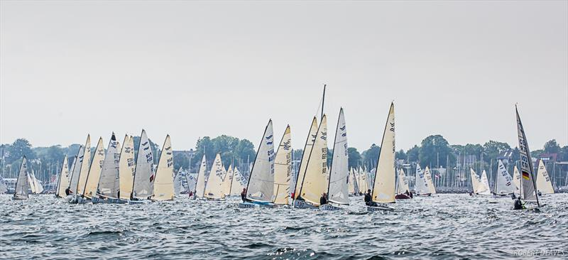 First attempt to start Race 4 - Day 3 - 2019 Finn World Masters photo copyright Robert Deaves / Finn Class taken at  and featuring the Finn class