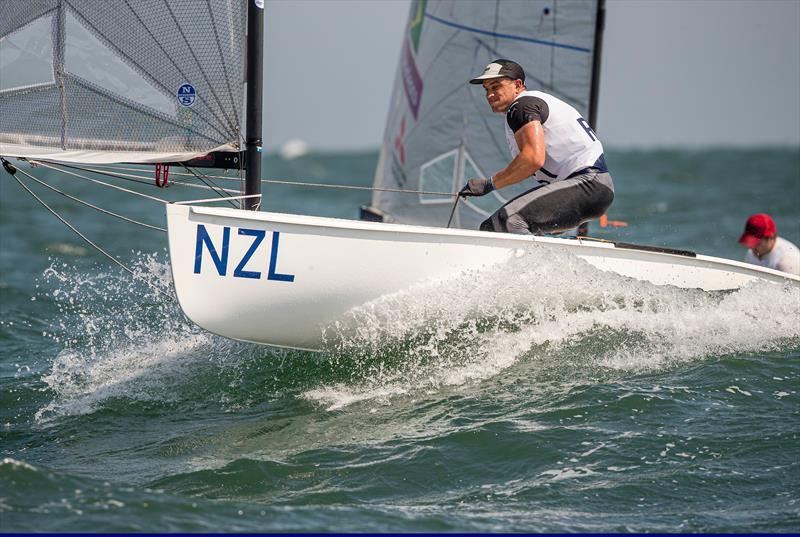 Andy Maloney (NZL) - Finn - Day 1, Olympic Test Event - Enoshima, Japan - August 2019 - photo © Jesus Renedo / Sailing Energy / World Sailing