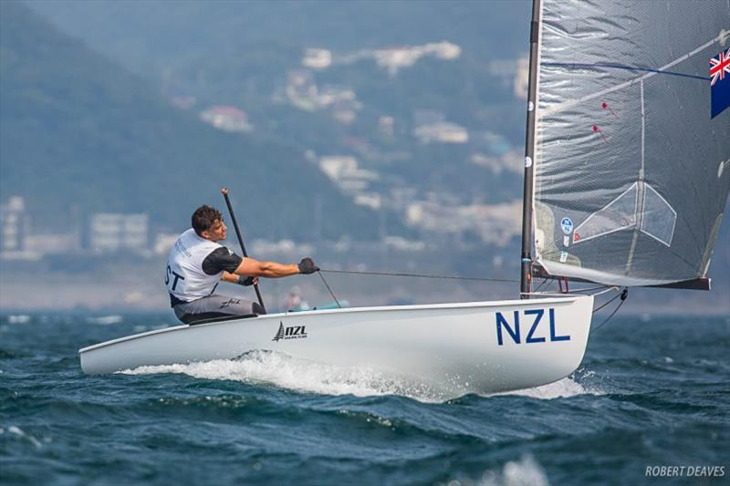 Andy Maloney, day 3 - Ready Steady Tokyo Olympic test event photo copyright Robert Deaves taken at  and featuring the Finn class