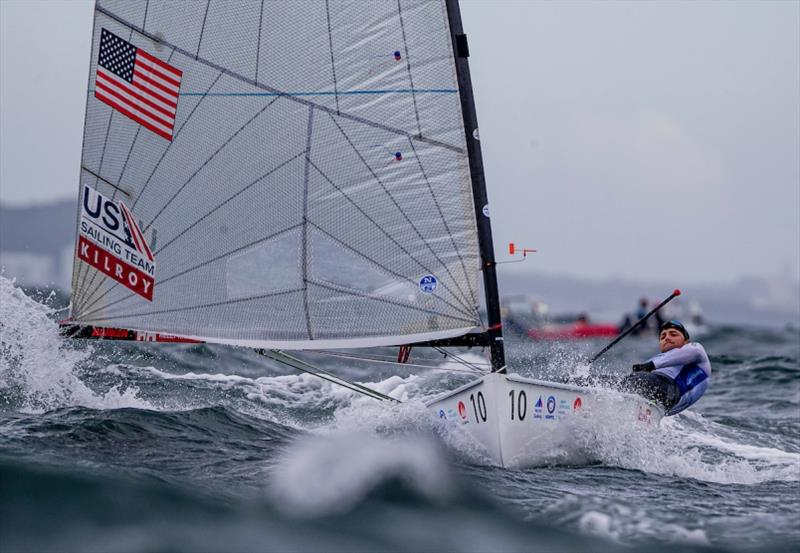 U.S. Men's Finn, Luke Muller - Hempel World Cup Series Enoshima, day 5 - photo © Jesus Renedo / Sailing Energy / World Sailing