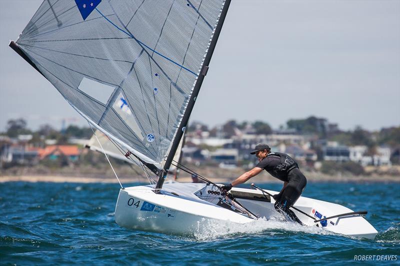 Andy Maloney (NZL) - Day 1, Finn Gold Cup, Melbourne, December 16, 2019 - photo © Robert Deaves / Finn Class
