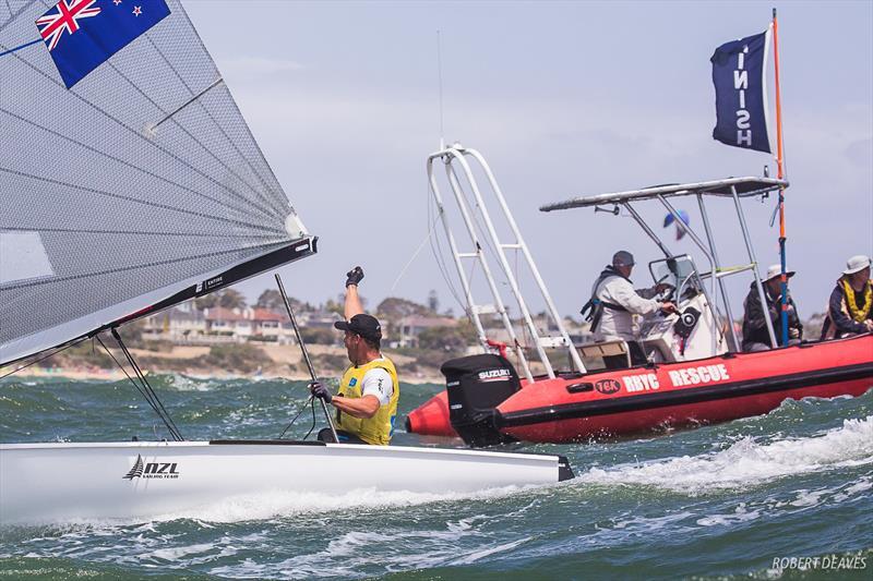 Josh Junior (NZL) - Day 6 - Finn Gold Cup, Melbourne - Royal Brighton Yacht Club, December 21, 2019 - photo © Robert Deaves / Finn Class