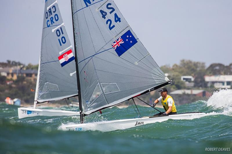 Josh Junior and Nenad Bugarin - 2019 Finn Gold Cup photo copyright Robert Deaves taken at Royal Brighton Yacht Club and featuring the Finn class