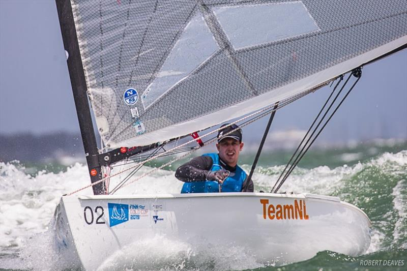 Nicholas Heiner - 2019 Finn Gold Cup photo copyright Robert Deaves taken at Royal Brighton Yacht Club and featuring the Finn class