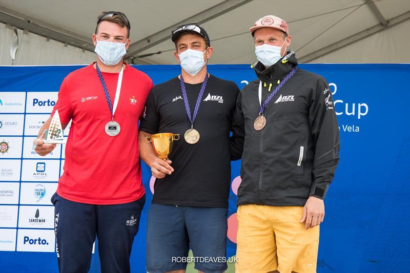 Joan Carona (ESP) Andy Maloney (NZL) and Josh Junior (NZL) - Finn Gold Cup - Porto, Portugal - May 2021 - photo © Robert Deaves / Finn Class
