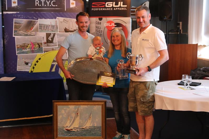 Ian Dobson and Richard Wagstaff collecting their multitude of prizes at last years nationals at the Royal Torbay YC - photo © Andy Wilcox