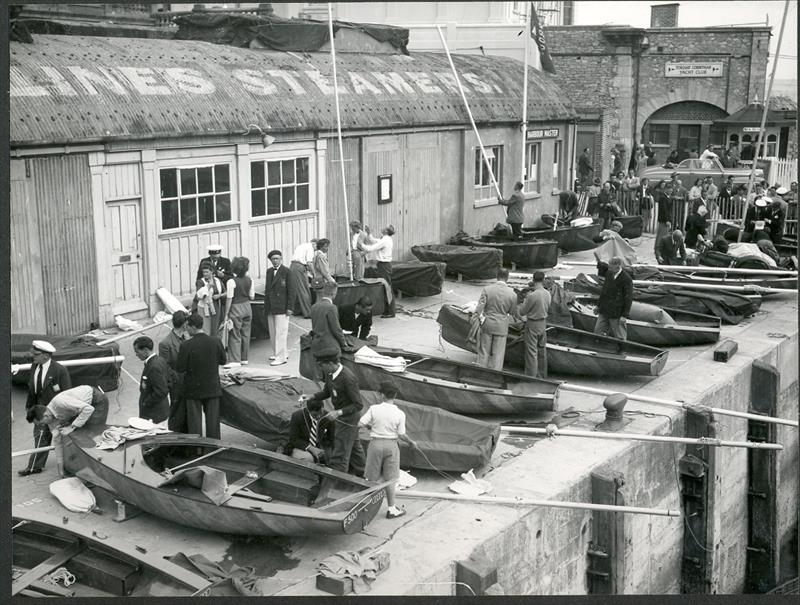 Boats were allocated to helms on the basis of a ballot, though many were found to have flaws, such as pitted and corroded foils - photo © Torquay Library / Henshall