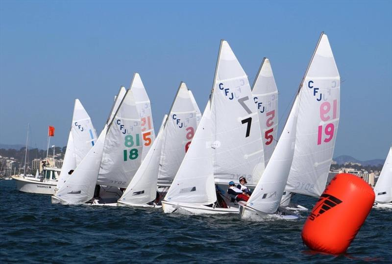 2017 PCISA/ISSA Girls National High School Invitational Regatta photo copyright Maru Urban taken at San Diego Yacht Club and featuring the Flying Junior class