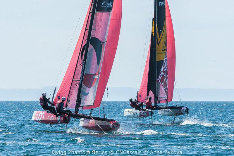 Extreme Sailing Series Act 4, Cascais 2018 - Day 1 - Flying Phantoms - photo © Anna Zykova