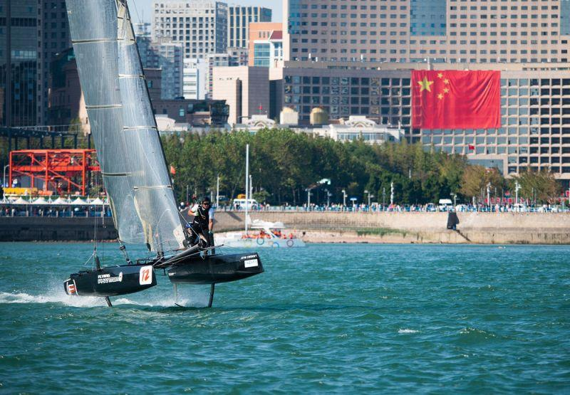 Day two - Black Flag Racing - 2018 Qingdao Mazarin Cup powered by Extreme Sailing Series™ - photo © Patrick Condy