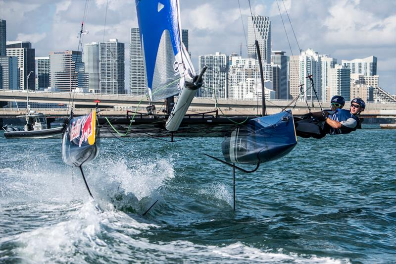 Isaac McHardie and William McKenzie of New Zealand win the Red Bull Foiling Generation World Finals in Miami, USA  - photo © Predrag Vuckovic