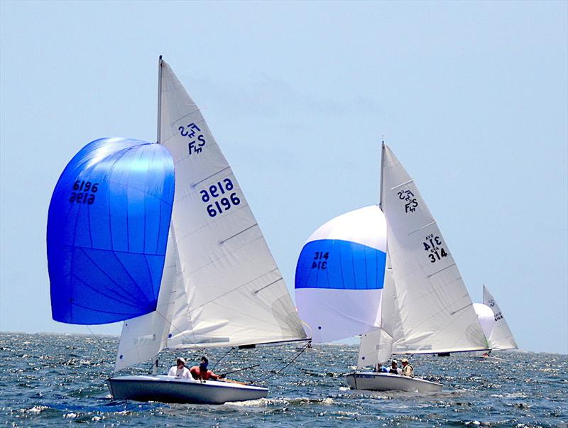 Zeke Horowitz and crew Jay Horowitz, father and son from Annapolis, MD. (6196) are in a three way tie for places 2,3,4 in the Flying Scot North American Championship in Pensacola FL. - photo © Talbot Wilson