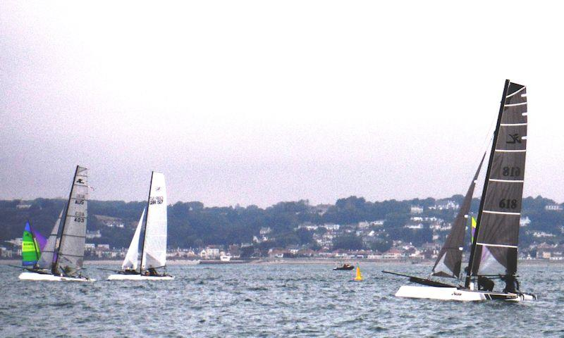 Rossborough Round the Island - F18 start - photo © Bill Harris