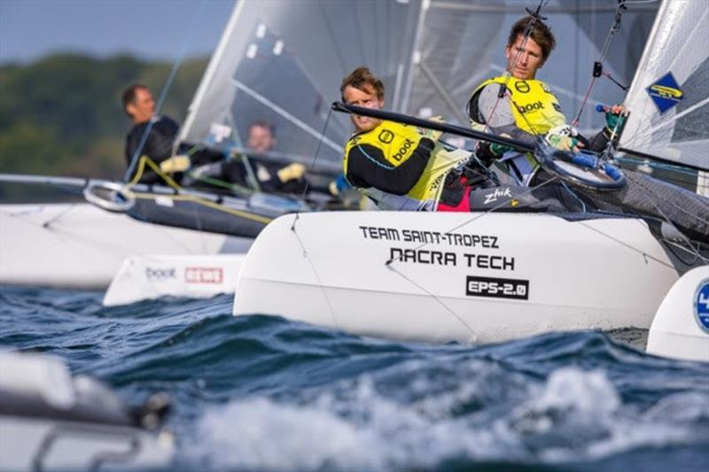 Two Hobie-16 helmsmen are mixing up the F18 class: Cedric Bader (France), European Hobie 16 champion of 2016, and Nicolaj Björnholt (Denmark): Six first places are in the ranking. - photo © www.segel-bilder.de