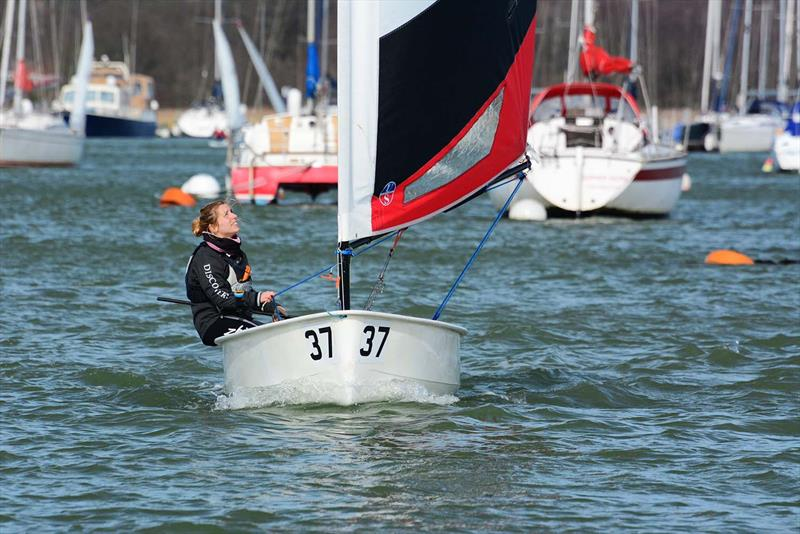 Emma Pearson during the 2019 Hamble Warming Pans - photo © Trevor Pountain
