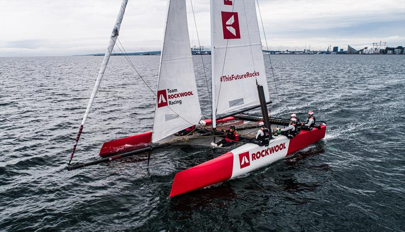 Team ROCKWOOL Racing hits Danish waters for the first time photo copyright Brian Carlin / ROCKWOOL taken at Sailing Aarhus and featuring the GC32 class