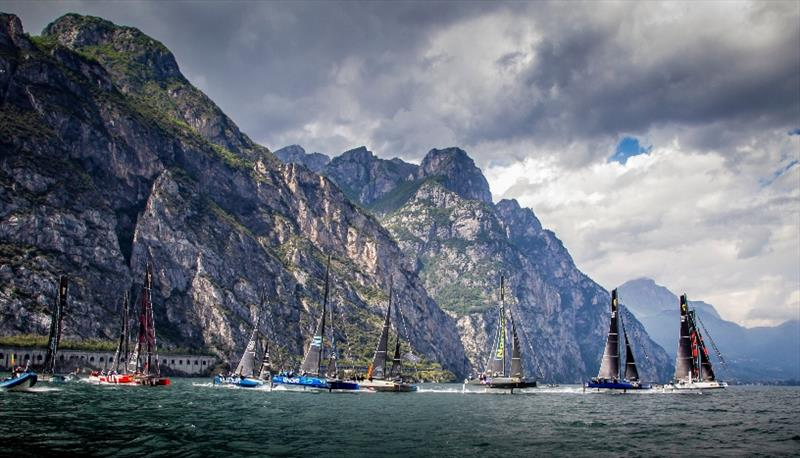 Lake Garda is one of the world's top venues for foiling catamaran racing  photo copyright Jesus Renedo / GC32 Racing Tour taken at  and featuring the GC32 class