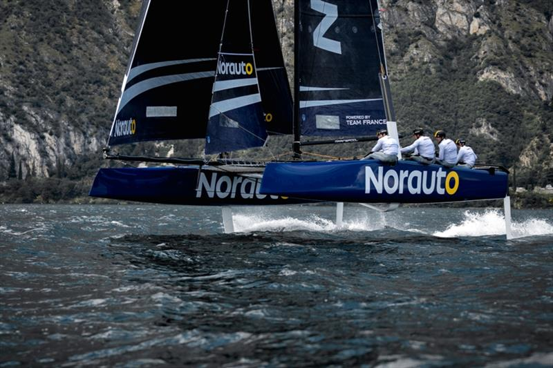 Franck Cammas' Norauto in her new livery - photo © Maxime Horlaville