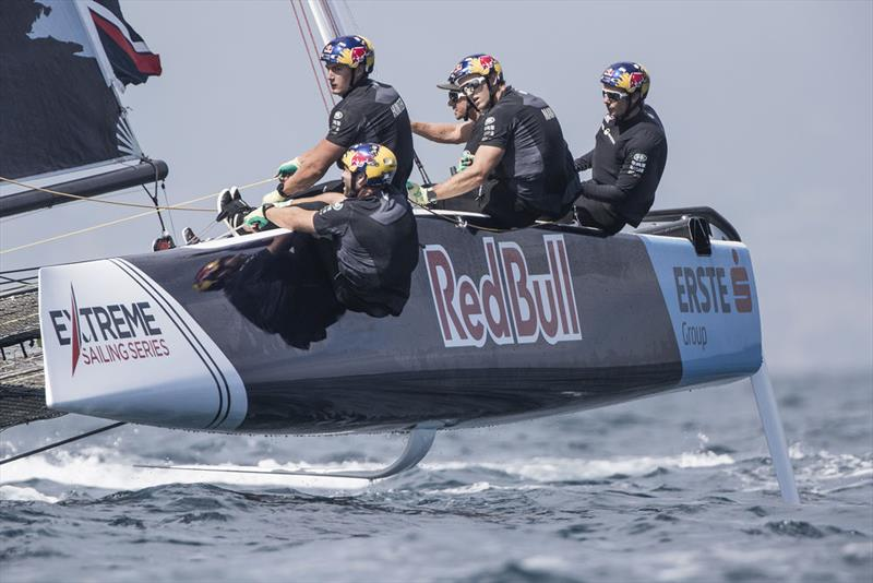 Extreme Sailing Series - Act 3, Barcelona 2018 - Day Two - Red Bull Sailing Team  - photo © Lloyd Images