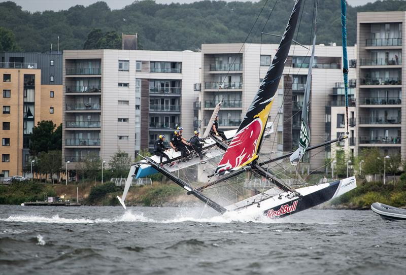 Extreme Sailing Series™ Cardiff 2018 - day one - Red Bull Sailing Team - photo © Vincent Curutchet / Lloyd Images
