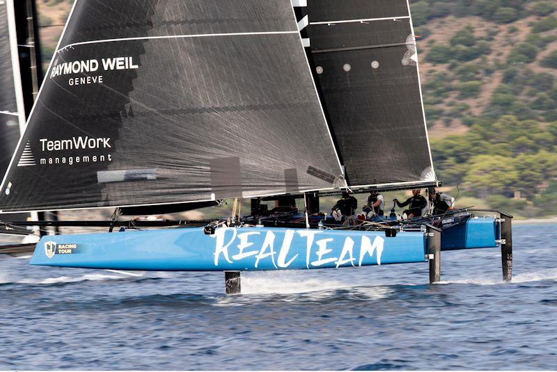 Realteam holds third overall on day 2 of the GC32 Villasimius Cup - photo © Sailing Energy / GC32 Racing Tour