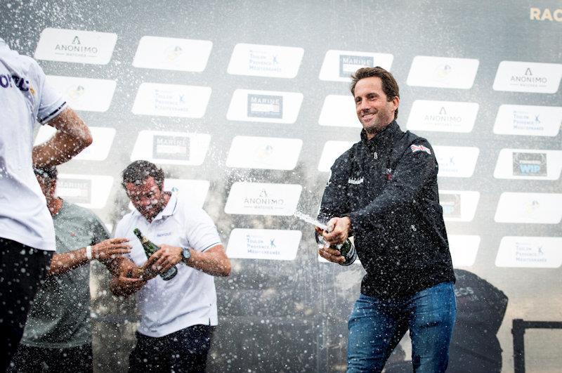 Sir Ben Ainslie celebrates INEOS Team UK's victory at the GC32 TPM Med Cup - photo © Sailing Energy / GC32 Racing Tour
