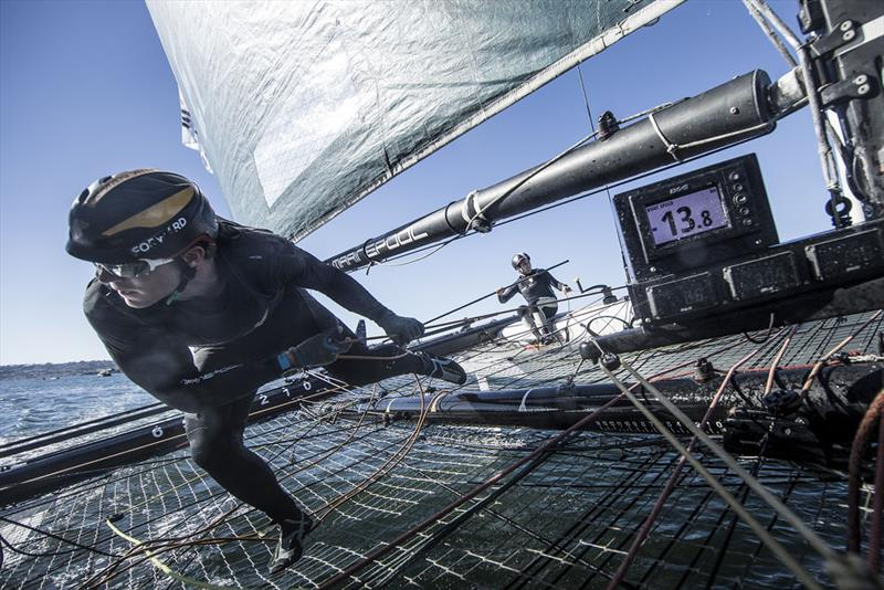 Extreme Sailing Series™ San Diego 2018 - Day two - Oman Air - photo © Lloyd Images