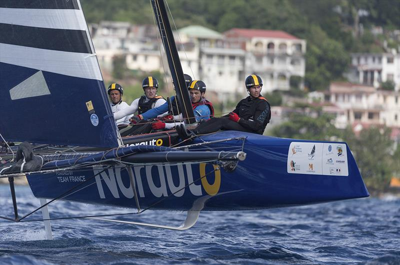 Franck Cammas and NORAUTO had a difficult day - Martinique Flying Regatta 2018 - photo © Jean-Marie Liot / Martinique Flying Regatta
