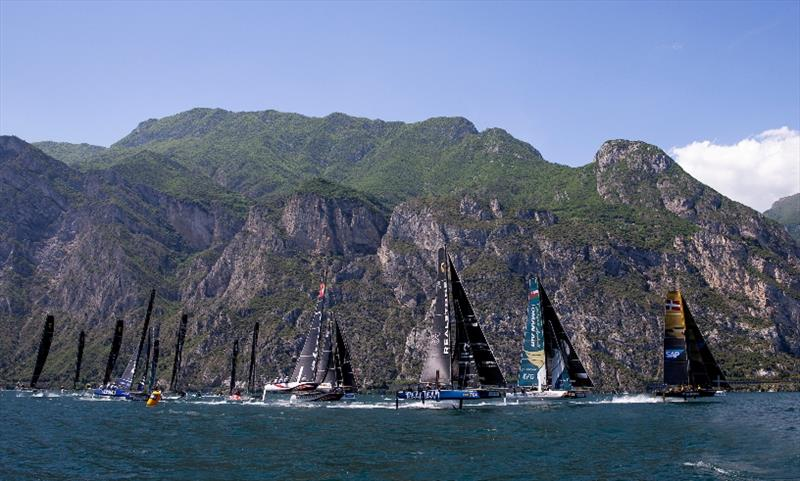 Full GC32 fleet racing at last year's World Championship on Lake Garda - a taste of things to come in 2019.  photo copyright Pedro Martinez / GC32 World Championship taken at  and featuring the GC32 class
