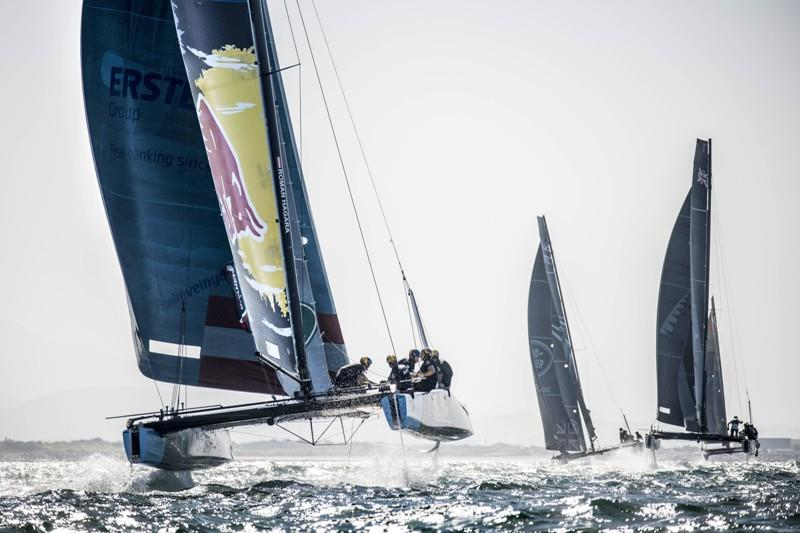 Red Bull Sailing Team is campaigned by Austrian sports legends, double Olympic Tornado gold medallists Roman Hagara and Hans-Peter Steinacher. - photo © Dean Treml / Red Bull Content Pool