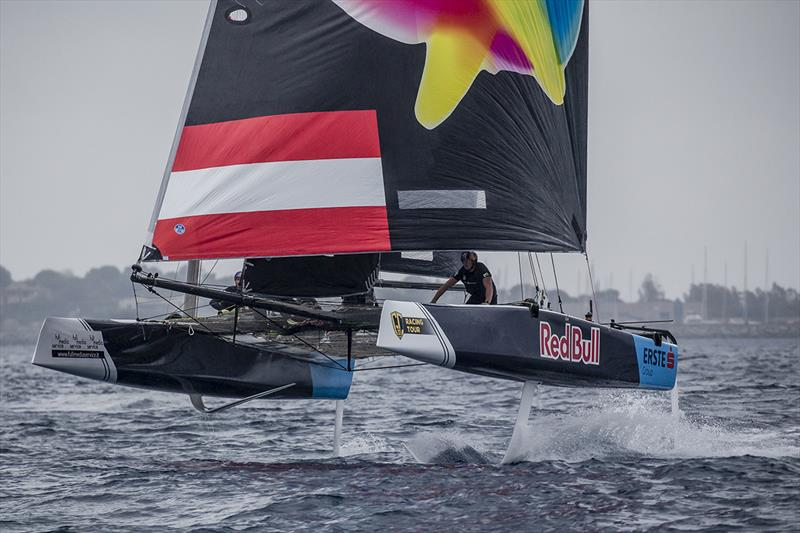 The new crew on Red Bull Sailing Team had a very consistent day of results all within the top five - 2019 GC32 Racing Tour - Villasimius Cup - photo © Sailing Energy / GC32 Racing Tour