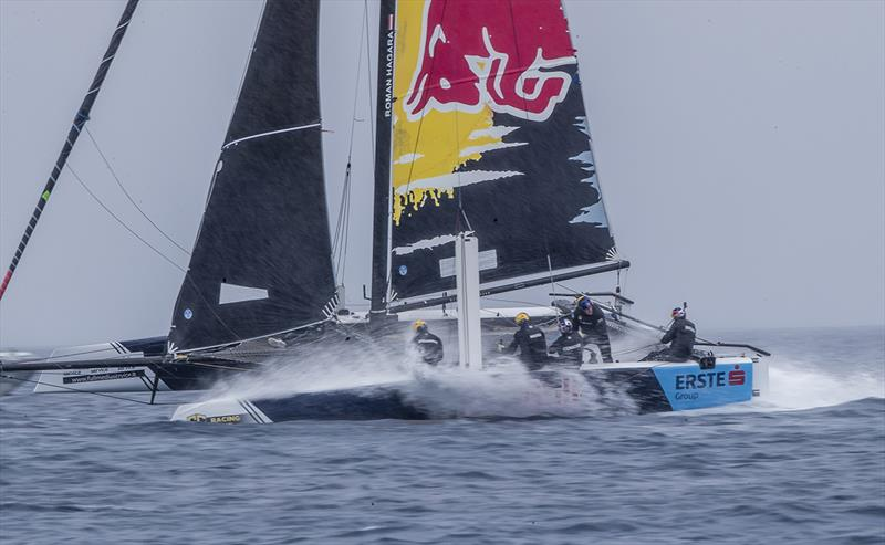 Wet ride on Red Bull Sailing Team - GC32 Racing Tour - Villasimius Cup  - photo © Sailing Energy / GC32 Racing Tour