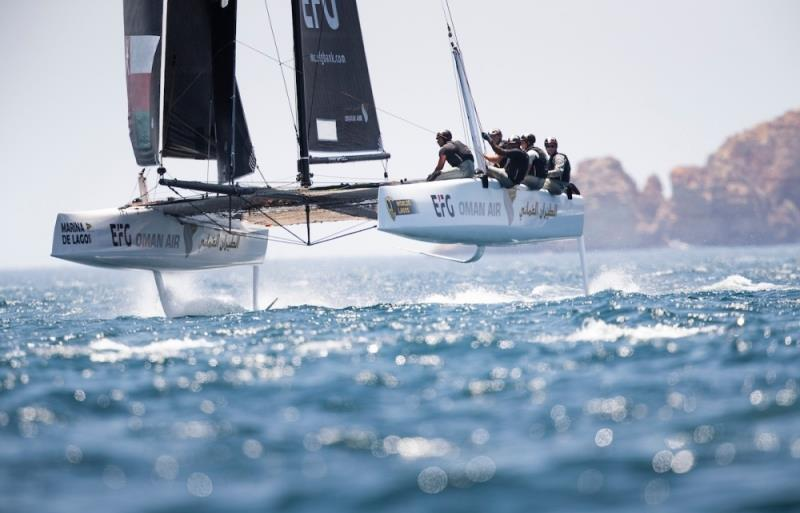 Team Oman Air at GC32 Worlds in Portugal - photo © Lloyd Images