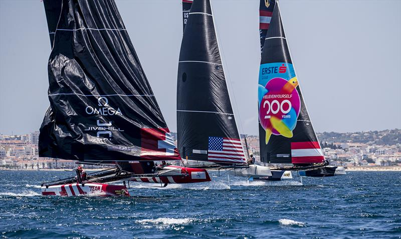 Ben Ainslie's INEOS Team UK did well to claim race three - GC32 World Championship 2019 - photo © Jesus Renedo / Sailing Energy / GC32 Racing Tour