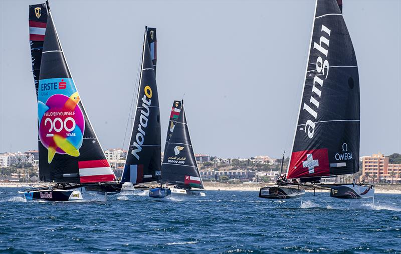 CHINAone NINGBO led for the opening lap of race three - GC32 World Championship 2019 - photo © Jesus Renedo / Sailing Energy / GC32 Racing Tour