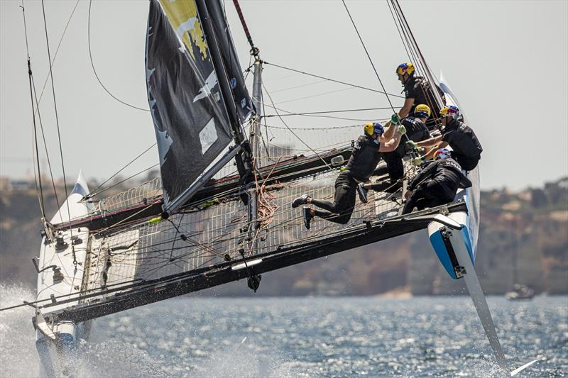 Wild ride on Red Bull Sailing Team - GC32 World Championship 2019 - photo © Jesus Renedo / Sailing Energy / GC32 Racing Tour
