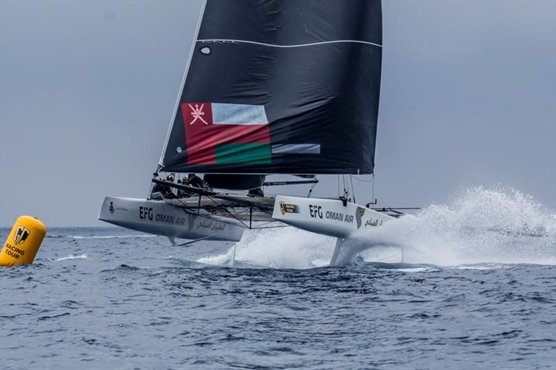 Oman Air was winner of this season's first event in Villasimius, Sardinia. - photo © Sailing Energy / GC32 Racing Tour